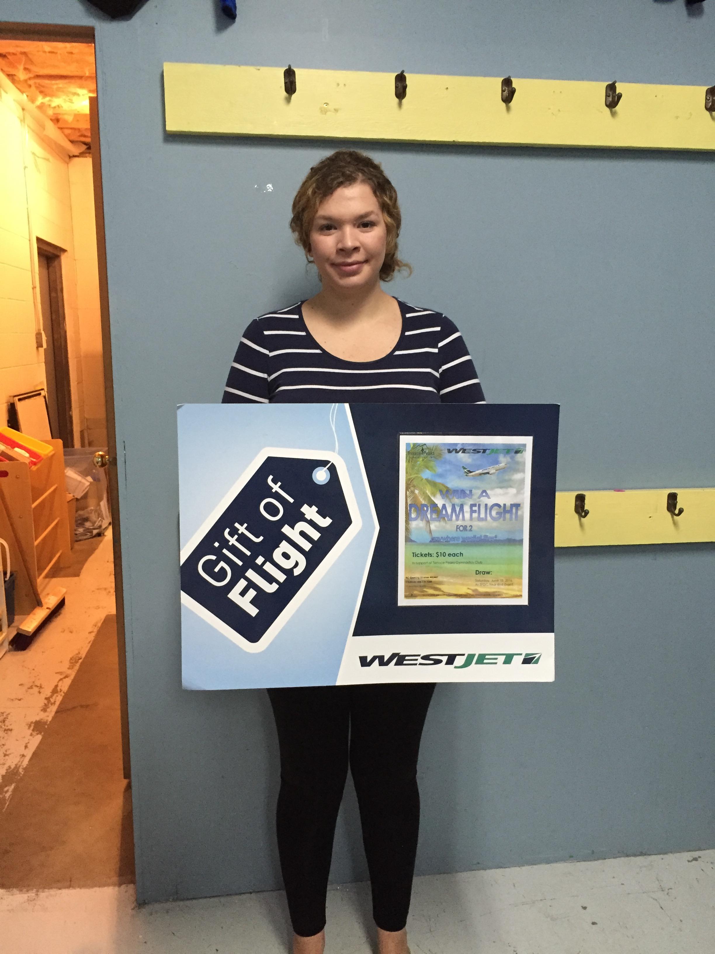 WestJet Winner 2016 - Jenna Prest